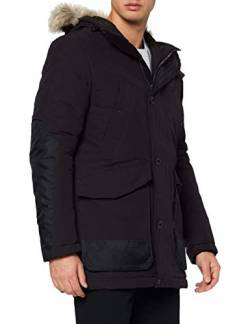 G-STAR RAW Mens Vodan pdd HDD Faux fur Parka, dk Black A281-6484, X-Large von G-STAR RAW