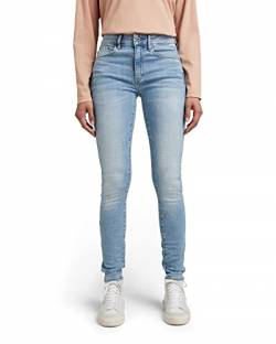 G-STAR RAW Womens 3301 High Waist Skinny Jeans, Blau (lt Indigo Aged 8968-8436), 25W / 30L von G-STAR RAW