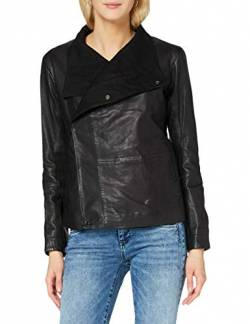 G-STAR RAW Womens Collar Slim Blazer wmn Leather Jacket, dk Black 568-6484, XX-Small von G-STAR RAW