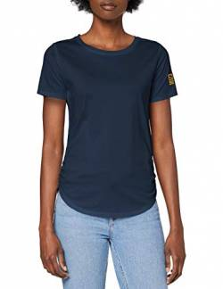 G-STAR RAW Womens Small Graphic Mysid Optic Slim T-Shirt, Vintage Navy C539-1605, XS von G-STAR RAW