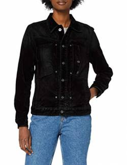 G-STAR RAW Womens Utility Slim Wmn Jacket, Black iced Flock C478-B699, Large von G-STAR RAW