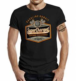 Gasoline Bandit Original Biker Racer T-Shirt: Super Charged-XL von Gasoline Bandit