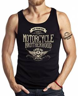 GASOLINE BANDIT Hot-Rod Biker Racer Tank-Top: Motorcycle Brotherhood-XXL von GASOLINE BANDIT