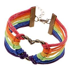 TONGS LGBT Bracelet Gay Pride Rainbow Color Silicone Bracelet LGBT Jewelry von GHYX