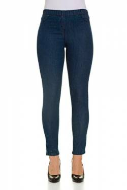 GINA LAURA Damen bis 50, Jeggings Julia, Knöchel-Länge, Slim-Fit, Elastik-Bund, Stretch-Denim, Blue 72 711228 94-72 von GINA LAURA