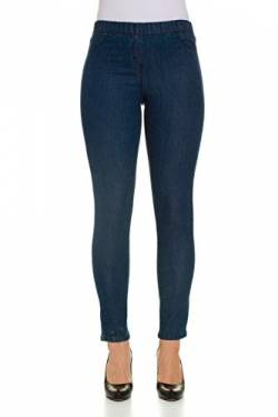 GINA LAURA Damen bis 50, Jeggings Julia, Knöchel-Länge, Slim-Fit, Elastik-Bund, Stretch-Denim, Blue 80 711228 94-80 von GINA LAURA