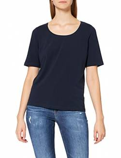 GINA LAURA Damen bis 3XL, Basic T-Shirt, Super-Stretch, Rundhalsausschnitt, Halbarm, Relaxed Fit, Marine XL 100942 71-XL von GINA LAURA