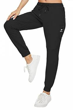 GOLDPKF Kordelzug hoch taillierte Trainingshose für Frauen Outfits Active Wear Skinny Fit Sommerhose Damen Soft Baseball Coole Hose mit 2 Taschen Schwarz XL 44 von GOLDPKF