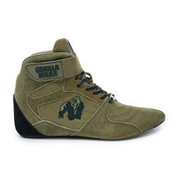 GORILLA WEAR Fitness Schuhe Herren - Perry High Tops - Bodybuilding Gym Sportschuhe Army 43 EU von GORILLA WEAR