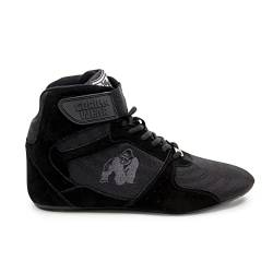 GORILLA WEAR Fitness Schuhe Herren - Perry High Tops - Bodybuilding Gym Sportschuhe Black 45 EU von GORILLA WEAR