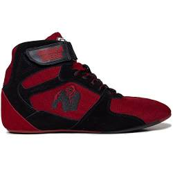 GORILLA WEAR Fitness Schuhe Herren - Perry High Tops - Bodybuilding Gym Sportschuhe Rot 44 EU von GORILLA WEAR