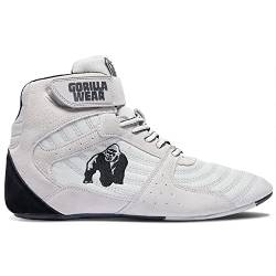 GORILLA WEAR Fitness Schuhe Herren - Perry High Tops - Bodybuilding Gym Sportschuhe White 43 EU von GORILLA WEAR