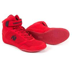 Gorilla Wear High Tops Red rot - schwarzes Logo - Bodybuilding und Fitness Schuhe für Damen und Herren, Rot - Schwarzes, 42 EU von GORILLA WEAR