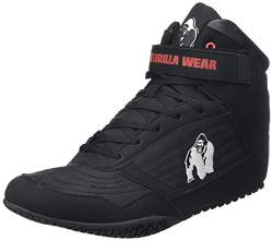 Gorilla Wear High Tops Red rot - schwarzes Logo - Bodybuilding und Fitness Schuhe für Damen und Herren, Schwarz, 47 EU von GORILLA WEAR