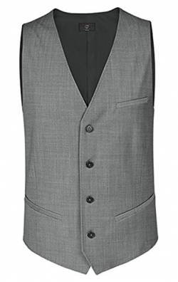 Greiff Herren-Weste regular Fit, modern with 37,5, regular fit, 1614, hellgrau, Größe 62 von GREIFF