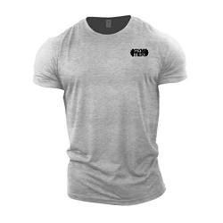 GYMTIER Bodybuilding-T-Shirt der Männer - Plain Badge - Fitness-Trainingsoberteil von GYMTIER
