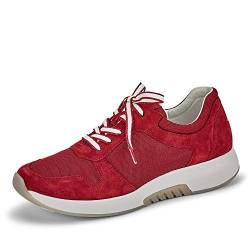 Gabor Damen Sneaker, Frauen Low-Top Sneaker,Optifit- Wechselfußbett, Frauen weibliche Lady Ladies feminin elegant Women's, 39 EU, Red Rot von Gabor