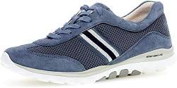 Gabor Damen Sneaker, Frauen Low-Top Sneaker,Optifit- Wechselfußbett, Woman Freizeit leger Halbschuh strassenschuh,Nautic(silb/Blue),40.5 EU / 7 UK von Gabor