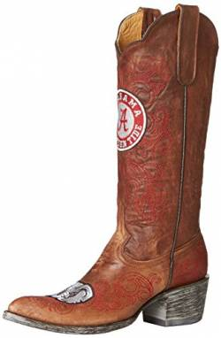 Gameday Boots NCAA Alabama Crimson Tide Damen 33 cm, Damen, AL-L012, Messing, 6.5 von Gameday Boots
