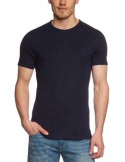 Garage Herren T-Shirt Comfort Fit 301 - T-Shirt R-Neck semi Bodyfit, Gr. 48/50 (M), Blau (Navy 401) von Garage