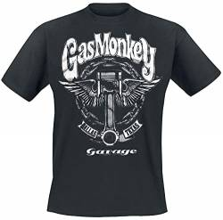 Gas Monkey Garage Big Piston T-Shirt schwarz XL von Gas Monkey Garage