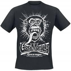 Gas Monkey Garage Explosion Männer T-Shirt schwarz L 100% Baumwolle Fan-Merch, Rockabilly, TV-Serien von Gas Monkey Garage