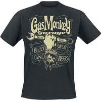 Gas Monkey Garage Garage Wrench Label  T-Shirt  schwarz von Gas Monkey Garage