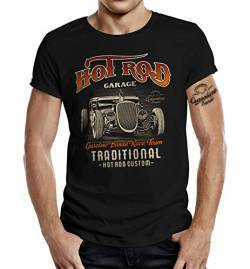 Rockabilly Hot Rod T-Shirt: Traditional Custom 2XL von Gasoline Bandit