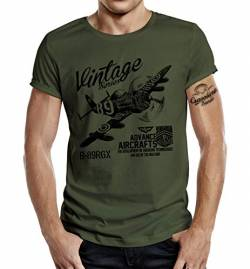 T-Shirt für Airborne Racing US-Airforce Fans: Vintage Air L von Gasoline Bandit
