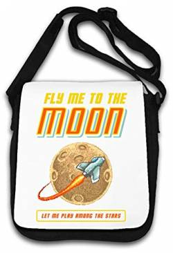 Fly Me to The Moon Retro Gaming Art Schultertasche von Generic
