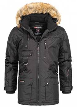 Geographical Norway Chirac Herren Parka Winter Jacke Parker Schwarz S von Geographical Norway