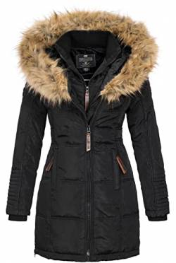 Geographical Norway Damen Jacke Winterparka Belissima XL-Fellkapuze Black L von Geographical Norway