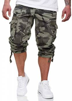 Geographical Norway Herren 3/4 Shorts Panoramique Camo Hellgrau M von Geographical Norway