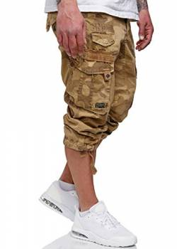 Geographical Norway Herren 3/4 Shorts Panoramique Camo Beige L von Geographical Norway