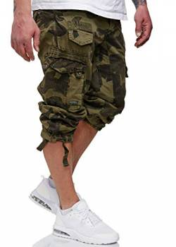 Geographical Norway Herren 3/4 Shorts Panoramique Camo Kaki XXL von Geographical Norway
