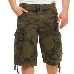 Geographical Norway Herren Shorts Panoramique Camo Kaki L von Geographical Norway