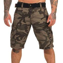 Geographical Norway Herren Cargo Shorts Peanut Bermuda-Hose mit Seitentaschen camo Black 3XL von Geographical Norway