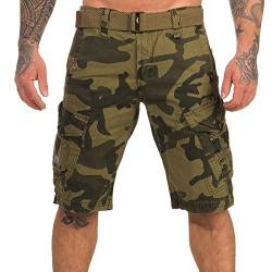 Geographical Norway Herren Cargo Shorts Peanut Bermuda-Hose mit Seitentaschen camo Mastic XL von Geographical Norway