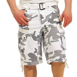 Geographical Norway Herren Shorts Panoramique Camo Weiss L von Geographical Norway