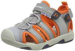 Geox Baby Jungen Multy Boy B Sandalen, Grau (Grey/Orange C0036), 20 EU von Geox