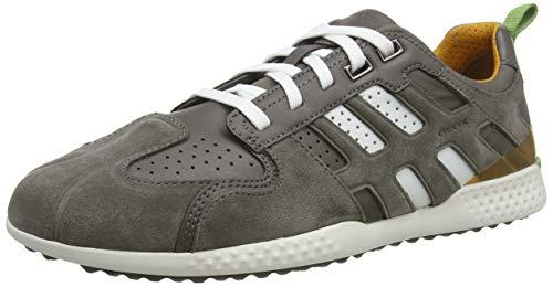 Geox Herren Uomo Snake E Sneaker, Schwarz (BlackDk Avio C9369), 43 EU