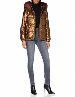 Geox Womens W BACKSIE Parka, Bronze, 44 von Geox