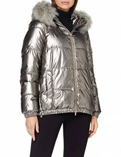 Geox Womens W BACKSIE Parka, Steel Grey, 44 von Geox