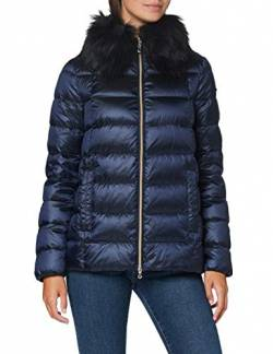 Geox Womens W Blenda Down Coat, Iridescent Blue, 46 von Geox