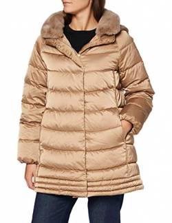 Geox Womens W CHLOO Parka, Outer Coconut, 38 von Geox