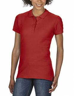 Gildan Damen Ladies' Premium Cotton Double Piqué Polo/85800L Poloshirt, Rot (Red), 40 (Herstellergröße: L) von Gildan