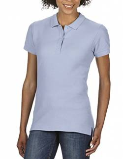 Gildan Damen Ladies' Premium Cotton Double Piqué Polo/85800L Poloshirt, Blau (Light Blue 69), 44 (Herstellergröße: XL) von Gildan