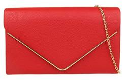 Girly Handbags Metallisch-Rahmen Clutch-Bag (Rot) von Girly Handbags