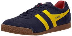 Gola Herren Harrier Suede Low-Top, Blau (Navy/Sun/Red), 41 EU von Gola