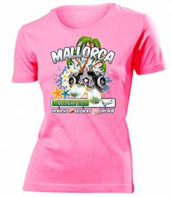 Mallorca 2019 Loading 5984 Spanien Party Sauf Bieren Damen Fun-T-Shirts Pink XL von Golebros